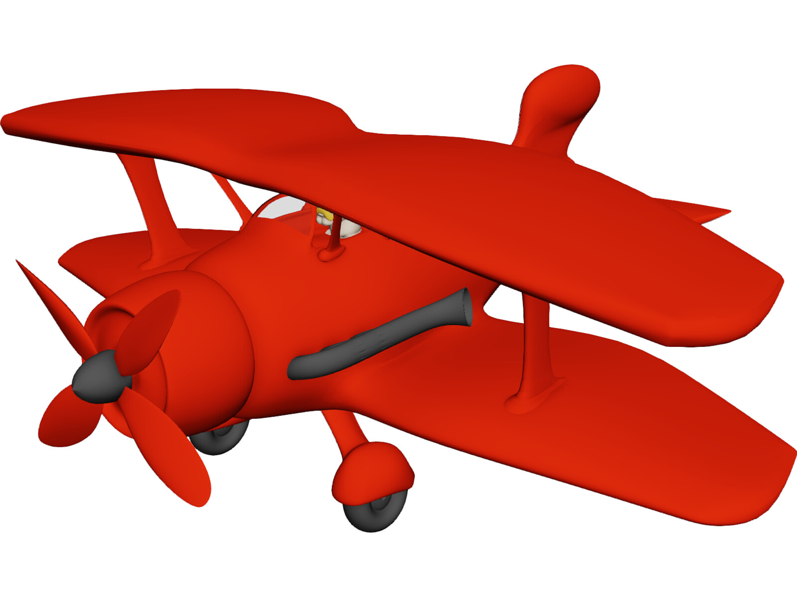 Toy Airplane Free 3D Model - 3D CAD Browser