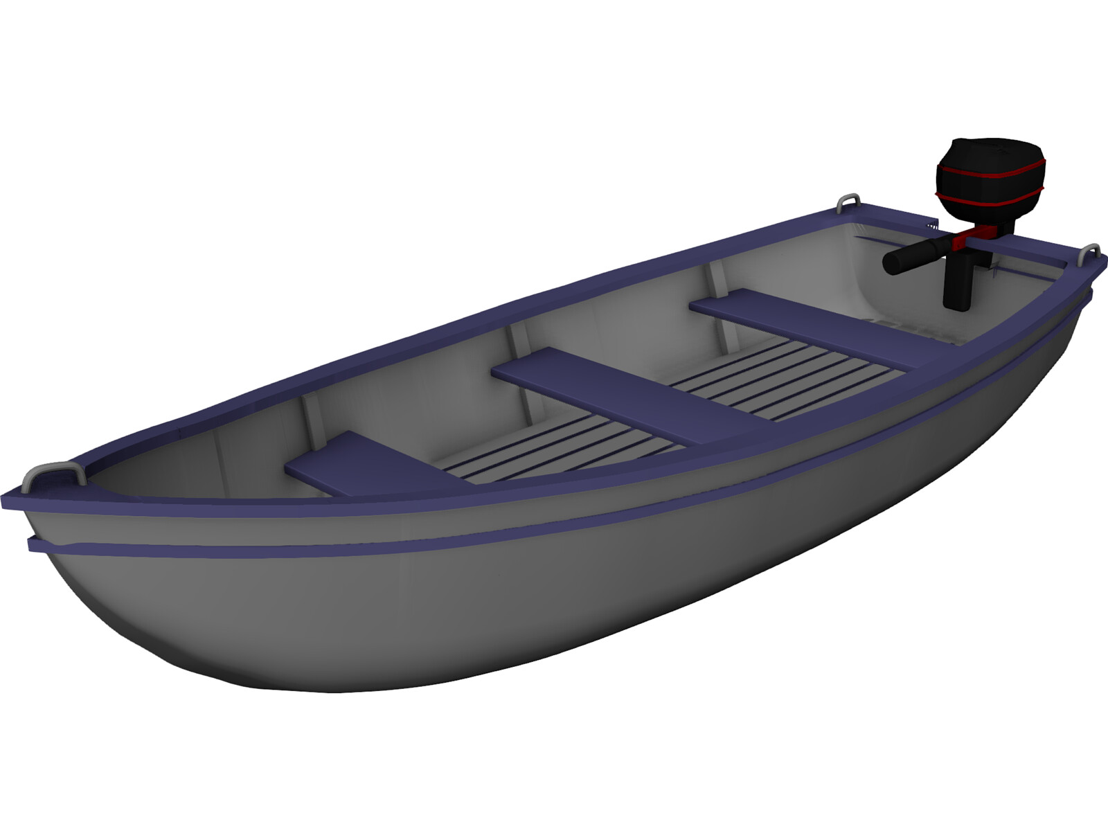 Boat with Outdoor Motor
