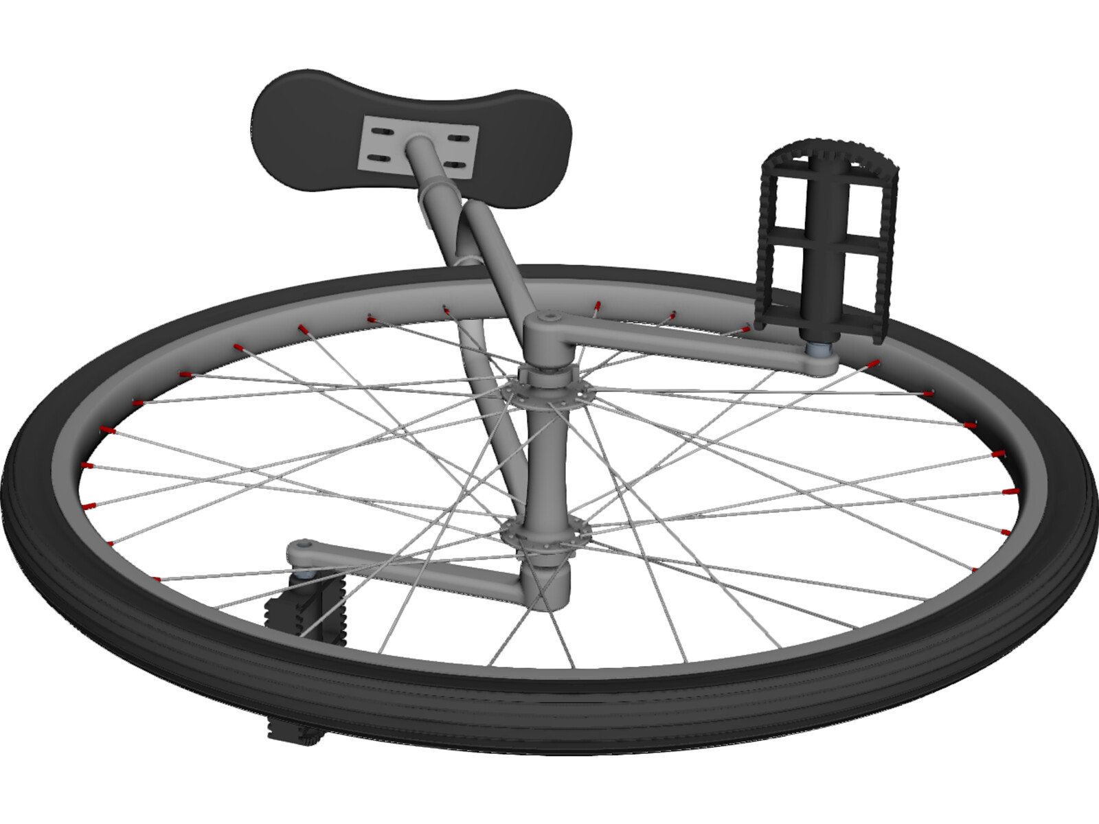 Unicycle 3D CAD Model