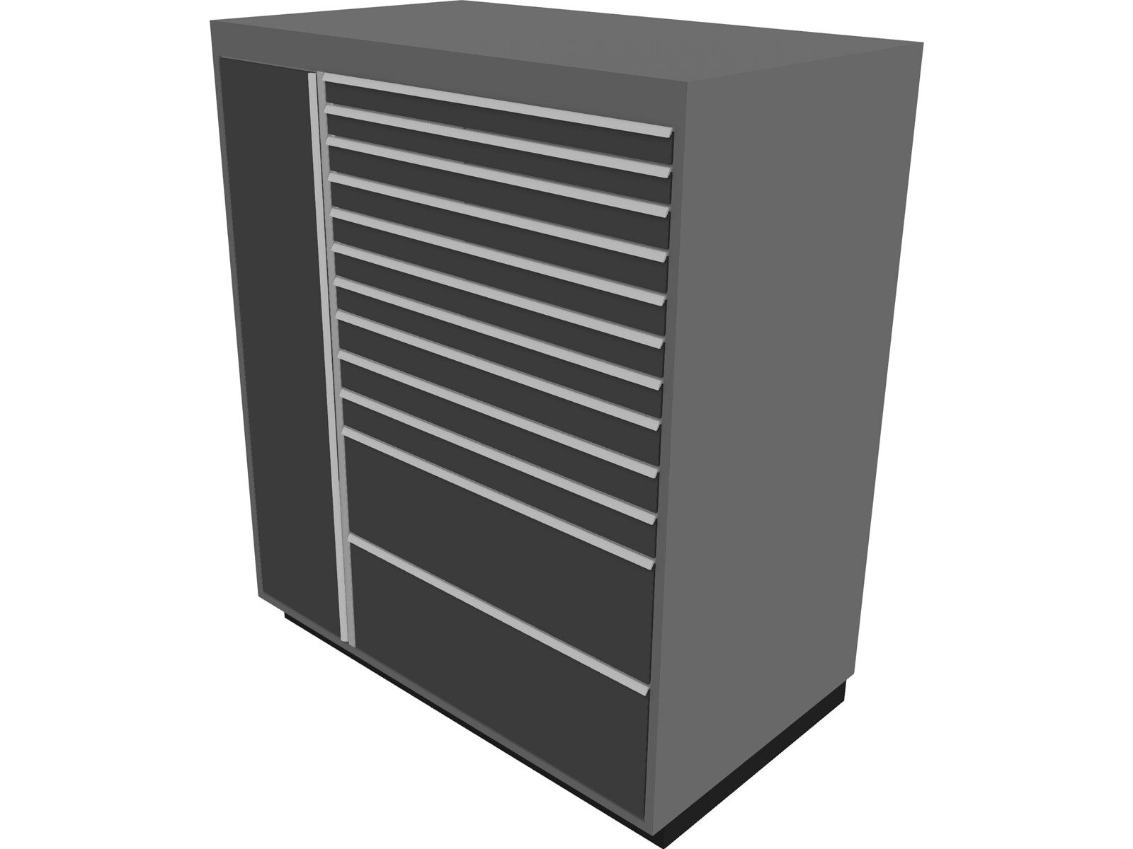 Garage Tool Chest Large 3D Model