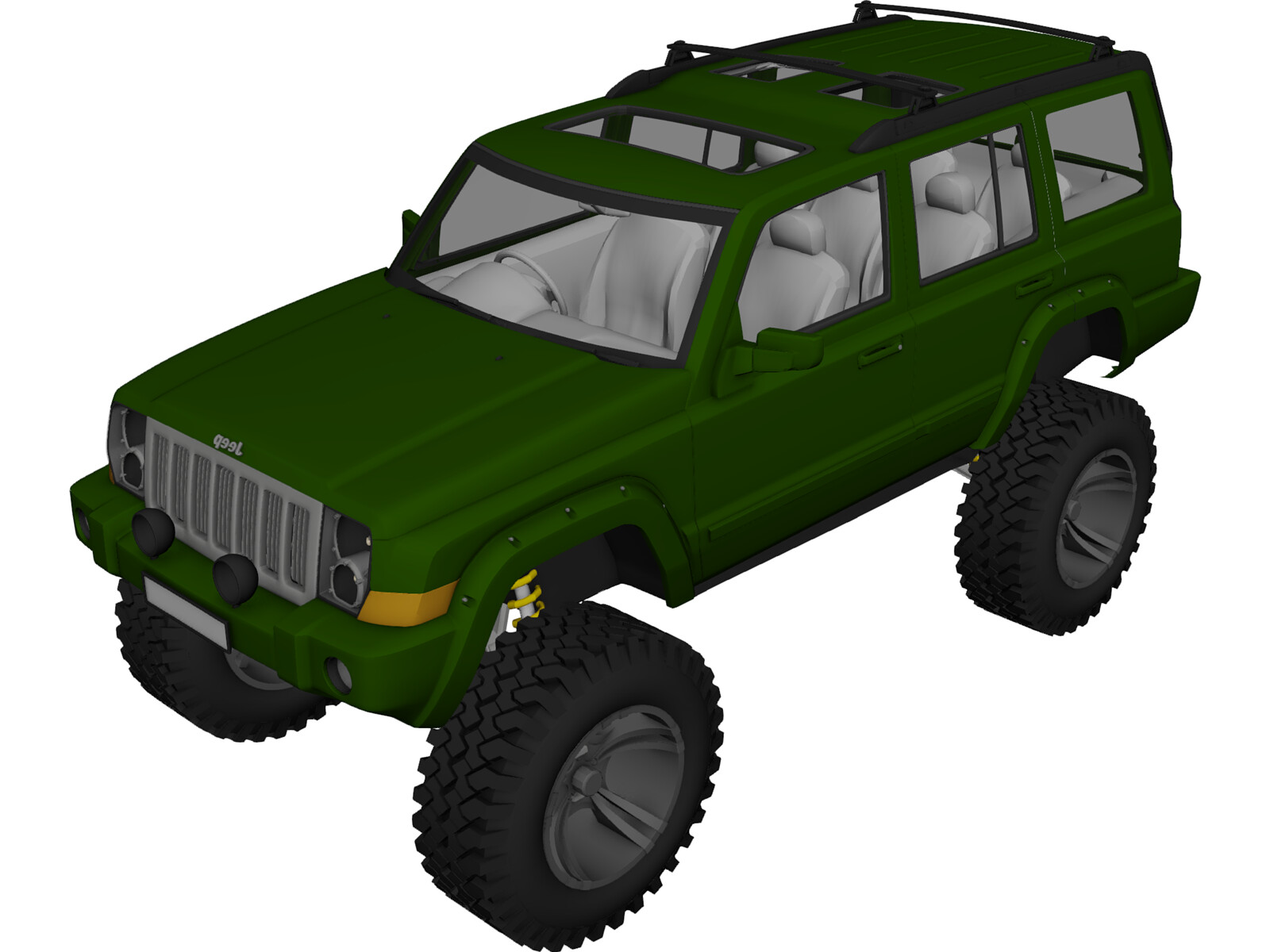 Jeep Commander [Lifted] 3D Model