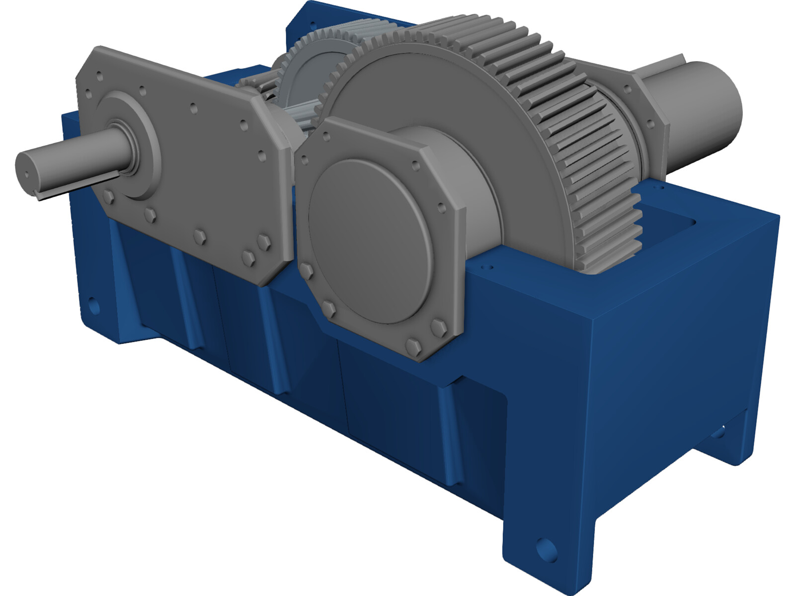 Speed Reducer Explode 3D Model