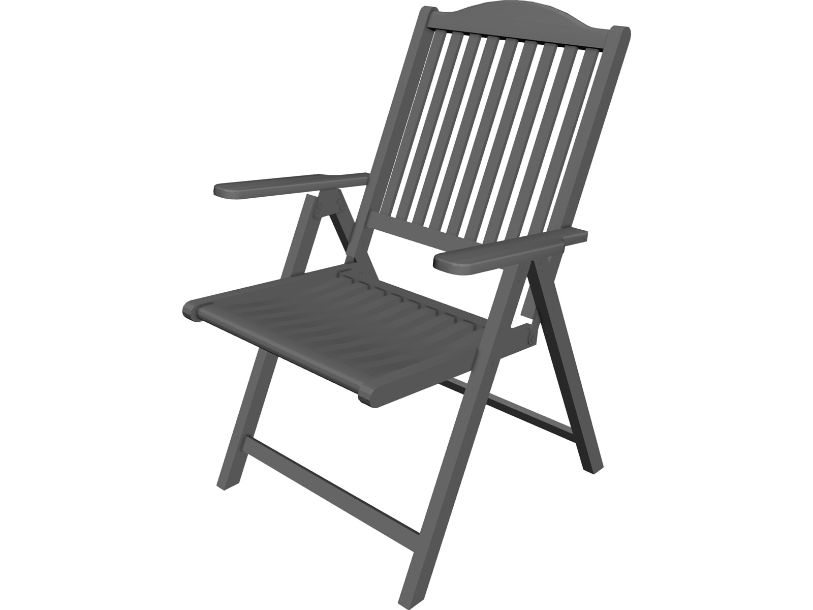 Adirondack Chair 3D CAD Model