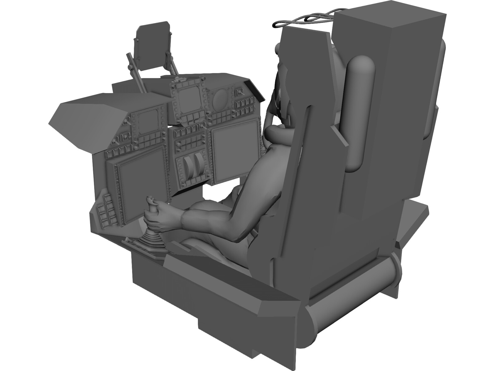Fighter Cockpit with Seat