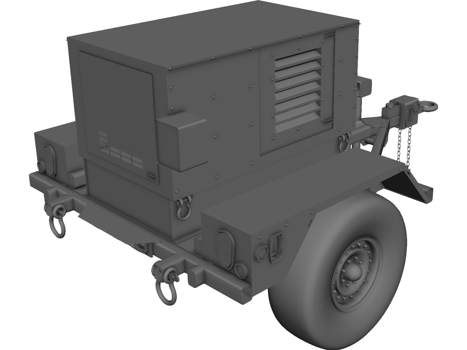Military Mobile Generator 3d Model 3d Cad Browser