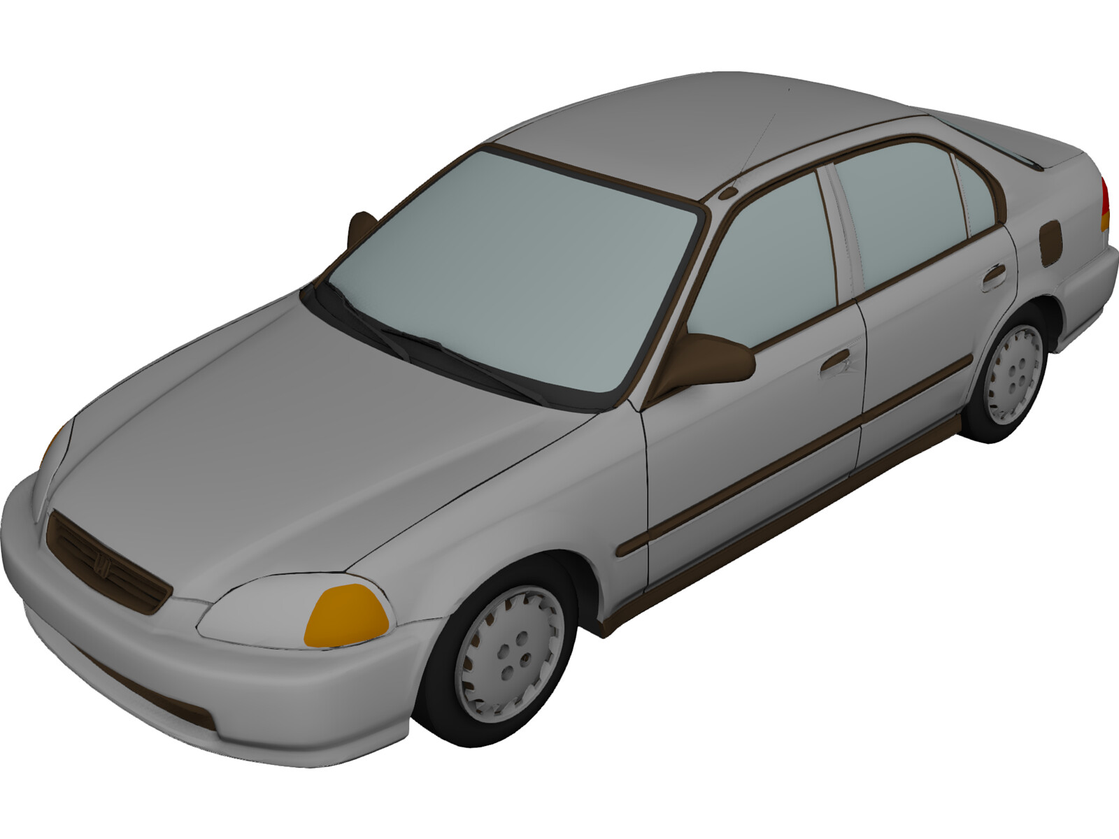 Honda Civic Sedan (1997) 3D Model