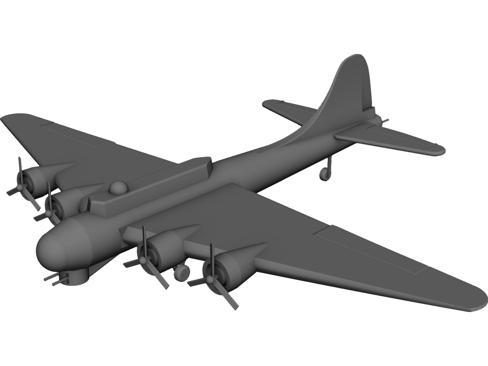 Boeing B-17 Flying Fortress 3D CAD Model