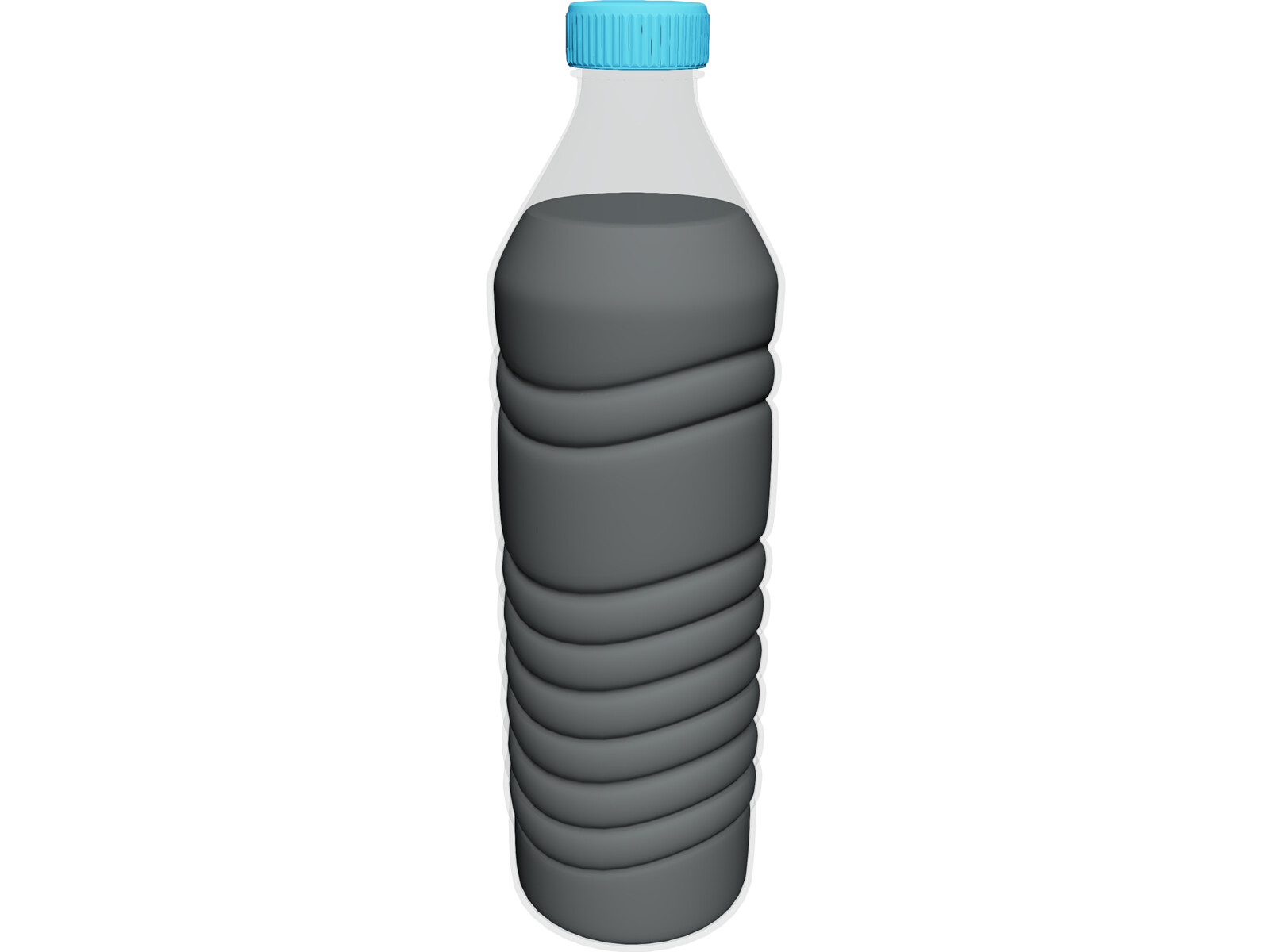 Water Bottle 1L 3D Model