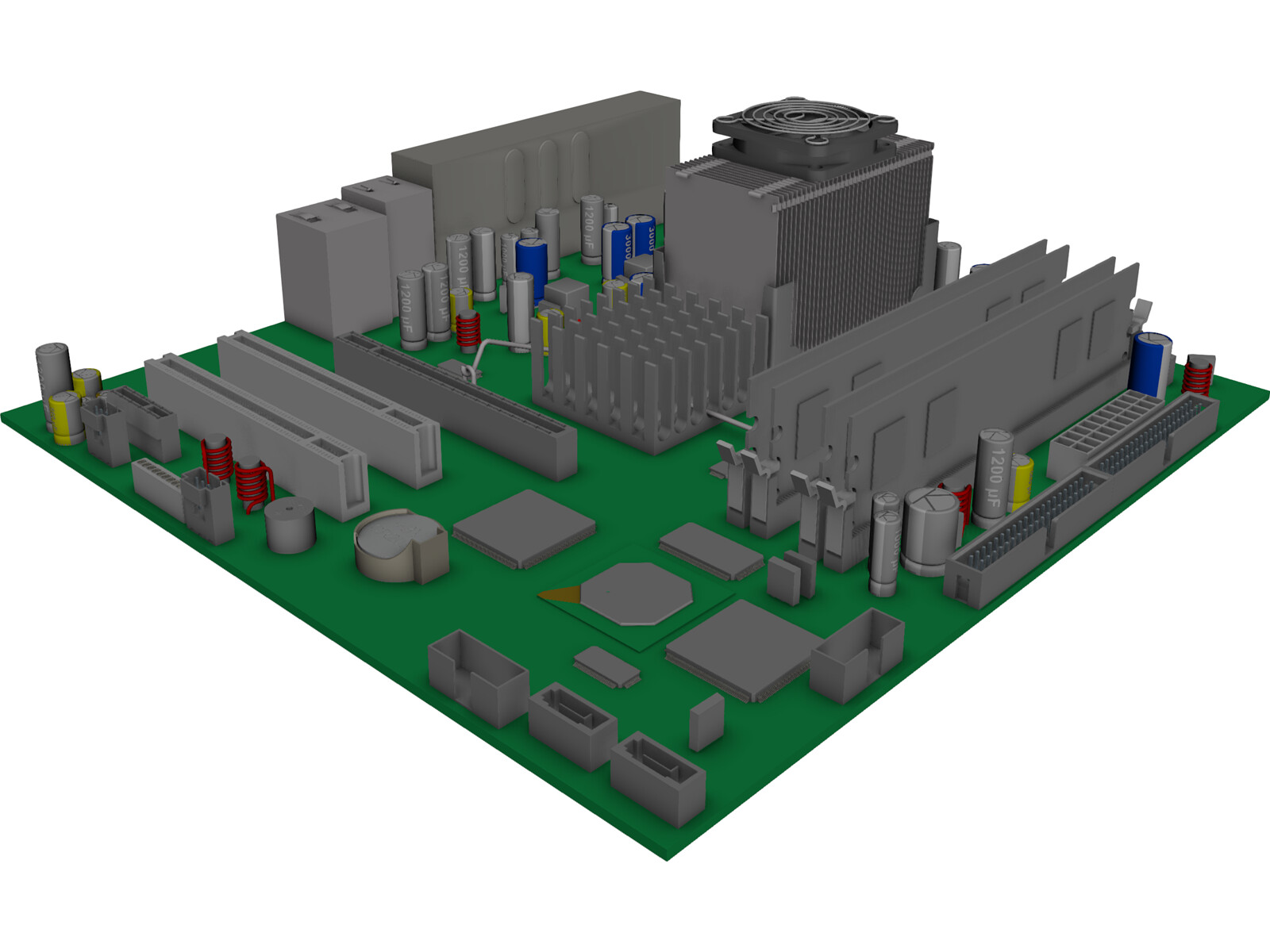 Computer Motherboard 3d Cad Model 3d Cad Browser
