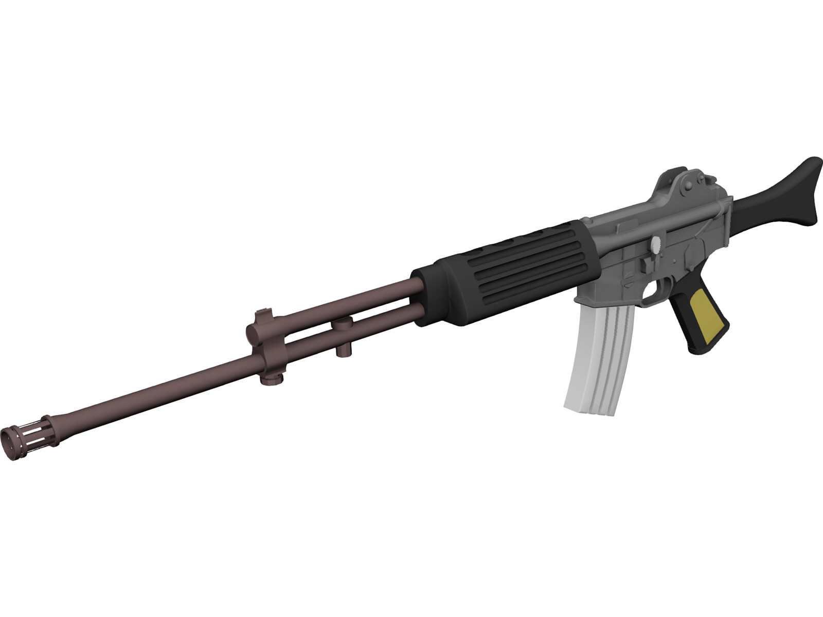 K2 Rifle 3D Model - 3D CAD Browser