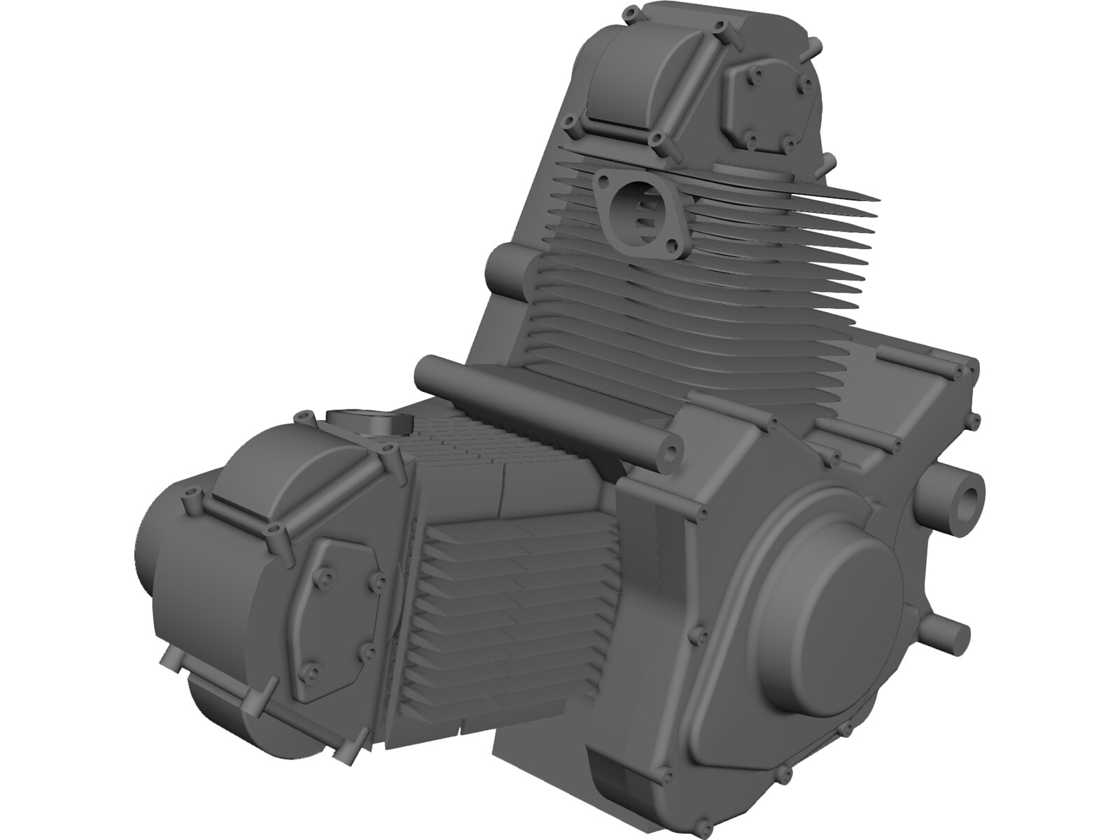 Engine Ducati 900ss Motorcycle 3D CAD Model