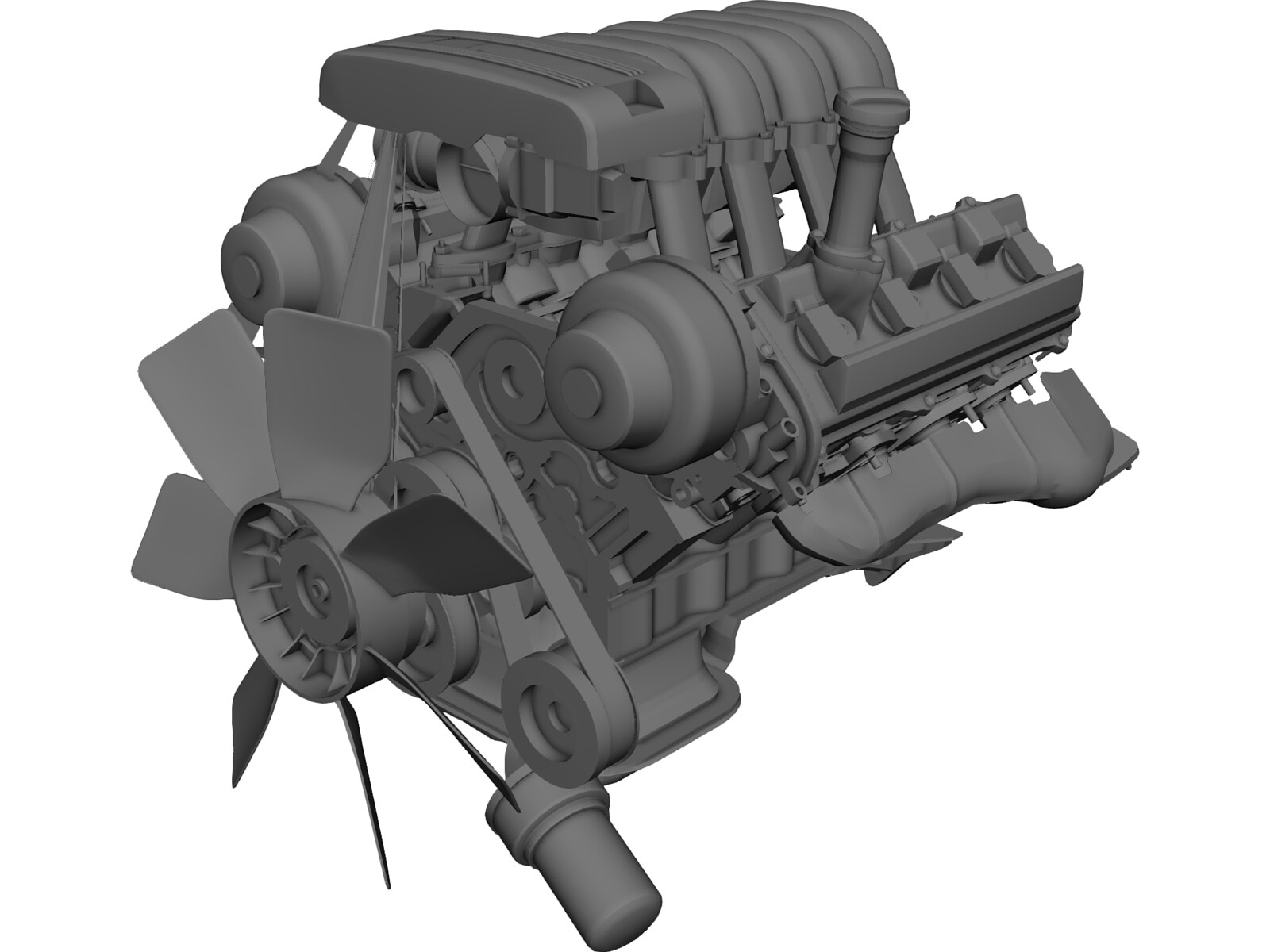 Engine Toyota Tundra (2000) 3D Model
