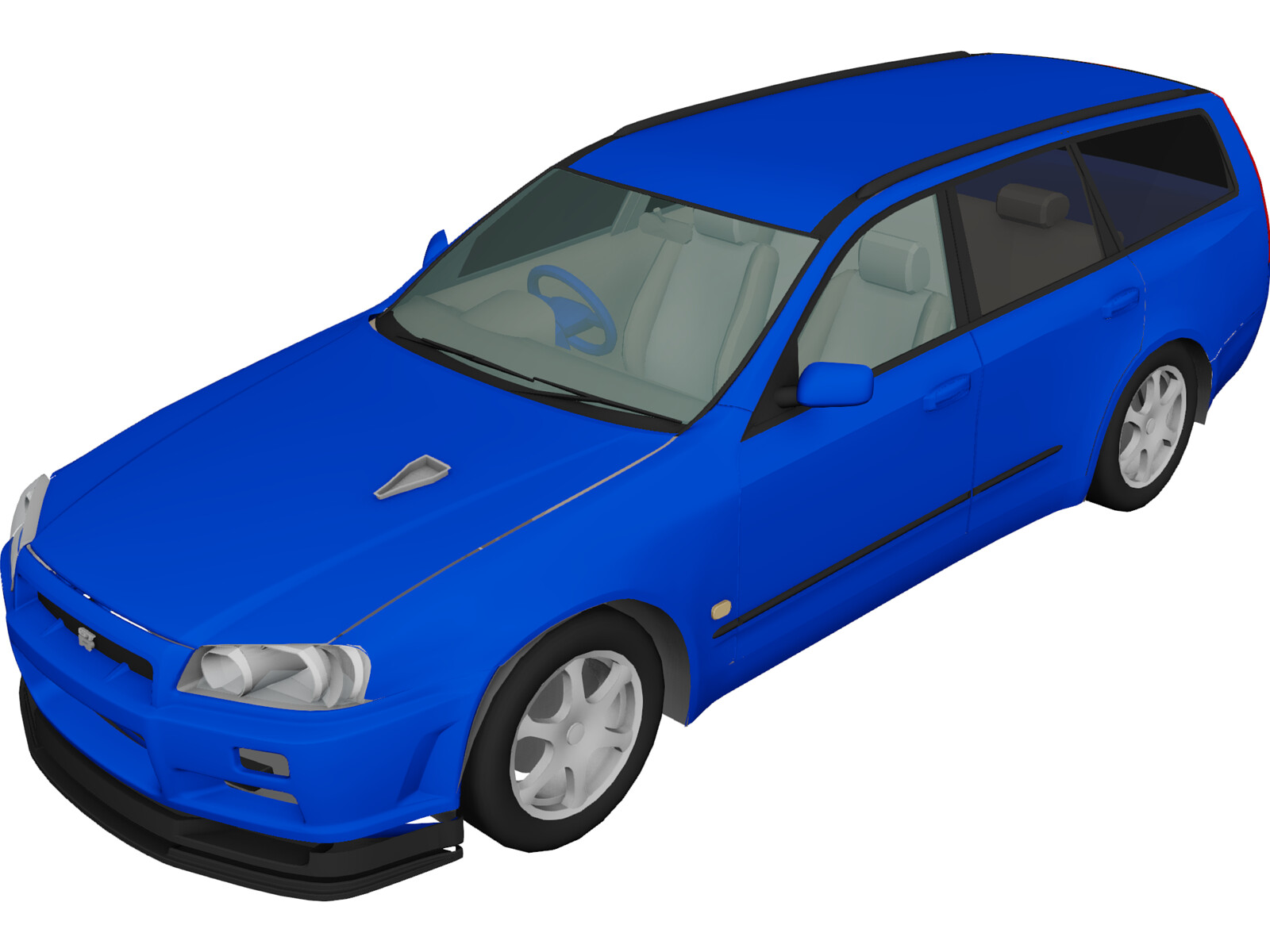 Nissan Steaga with Skyline Conversion 3D Model