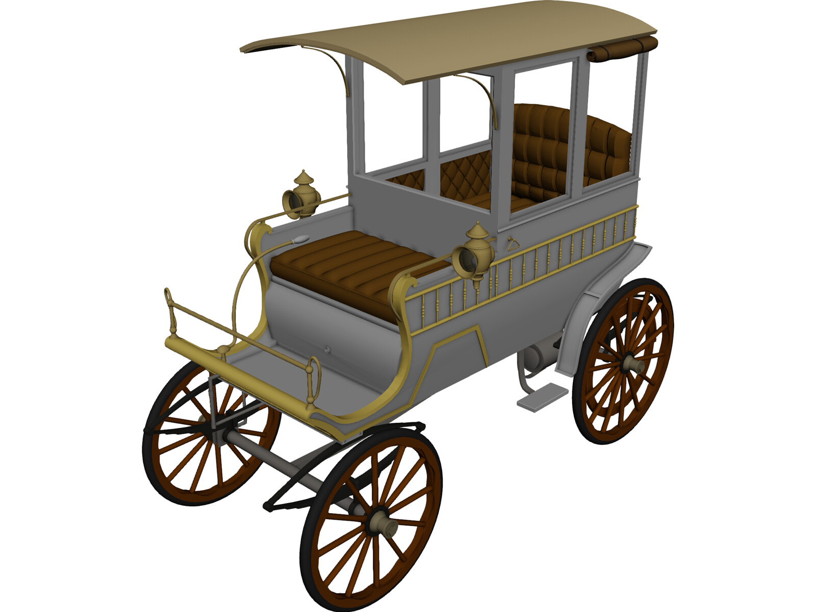 Woods Station Wagon (1900) 3D Model