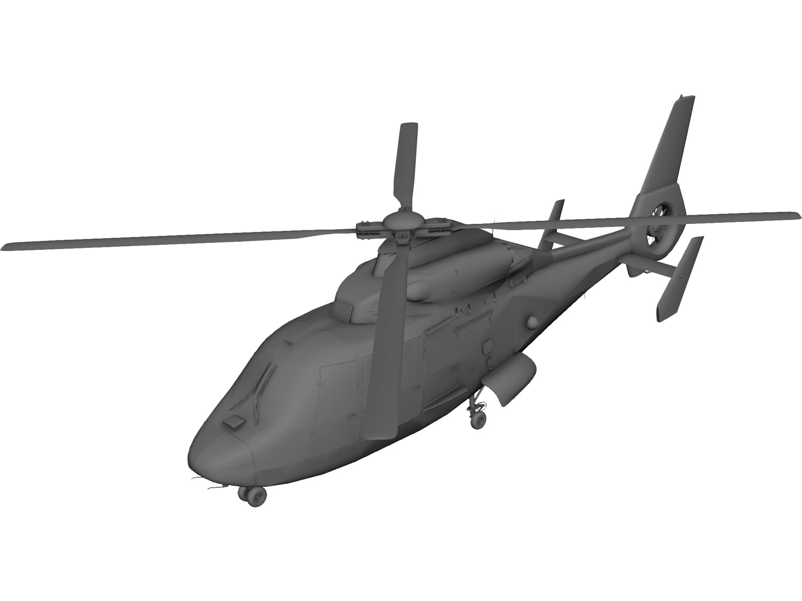 Eurocopter AS-365 Dauphin 3D CAD Model