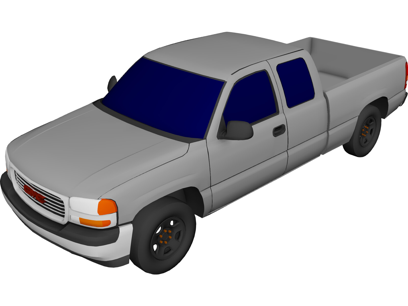 GMC Sierra Extended Cab Pickup (2000) 3D Model