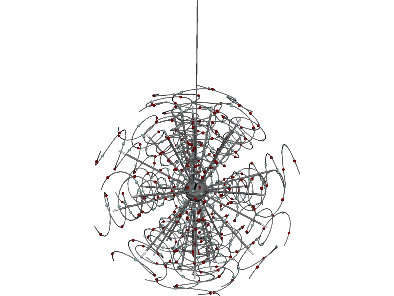 Outburst Crystal and Halogen Chandelier