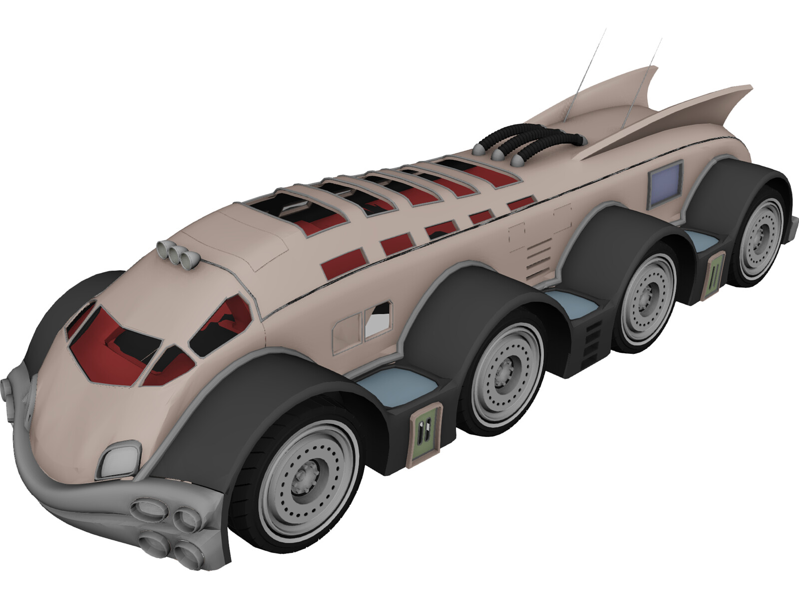Fantastic Vehicle 3D Model