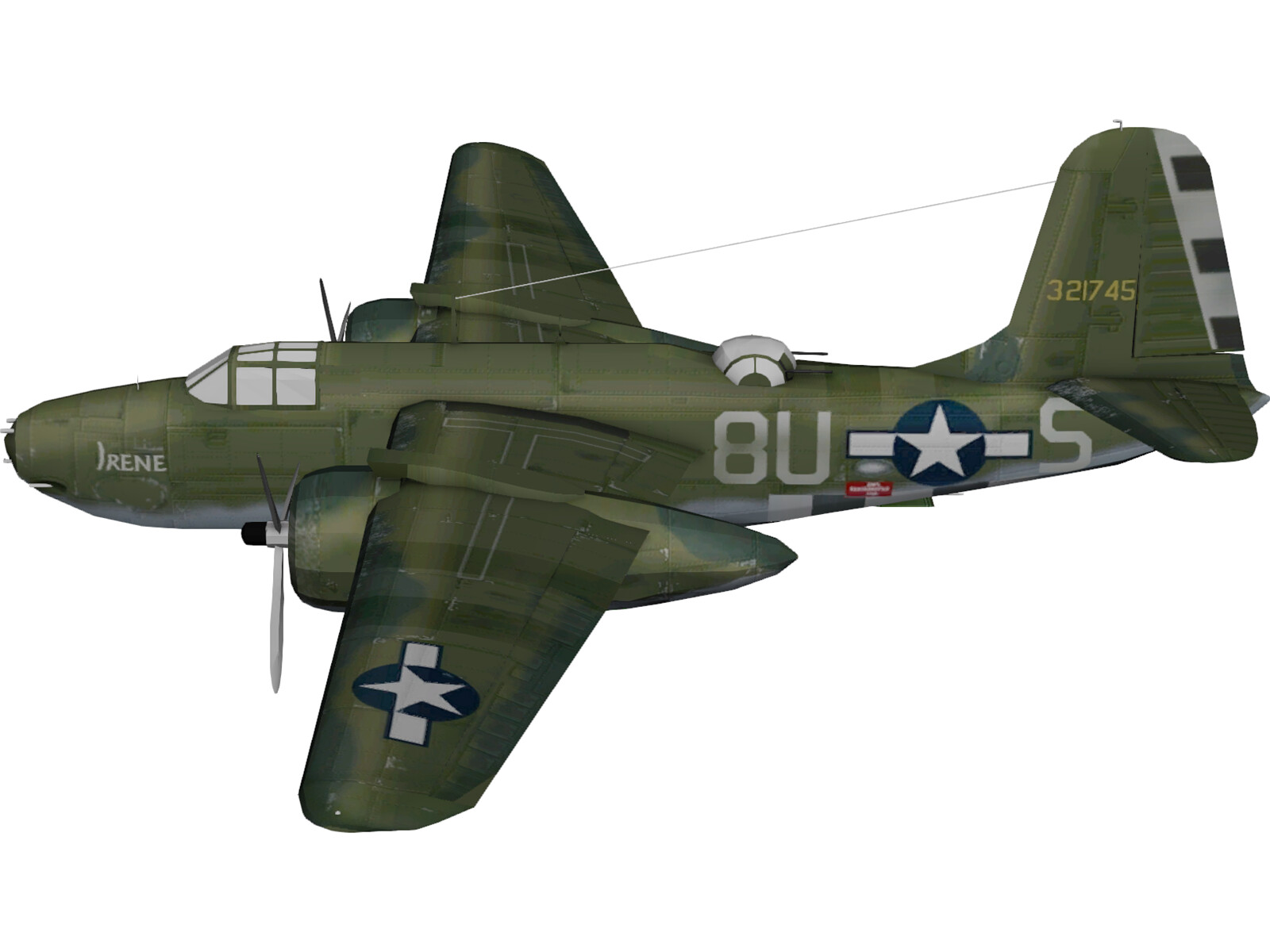 Douglas A-20G Havoc 3D Model
