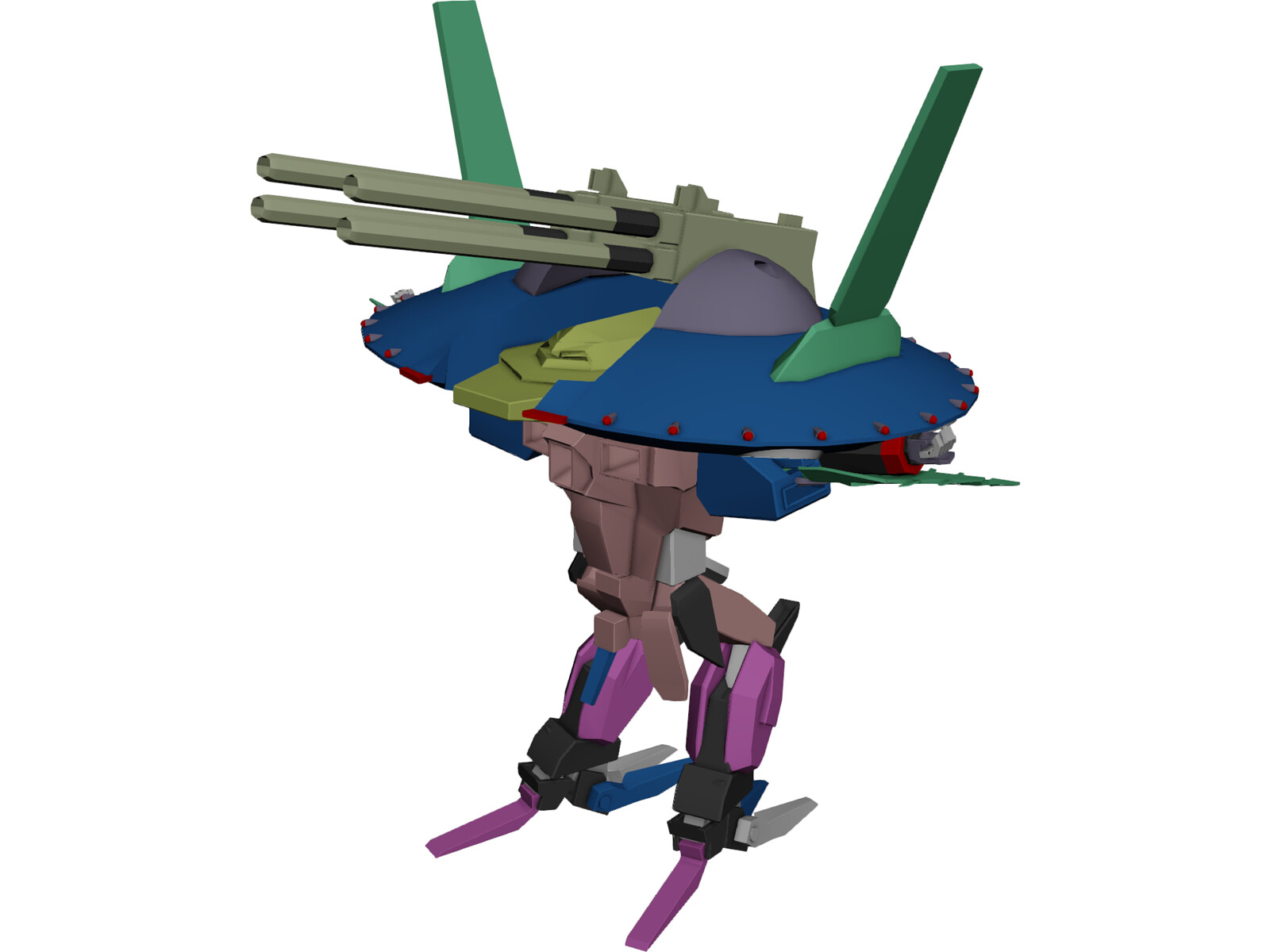 Armored Robot 3D Model