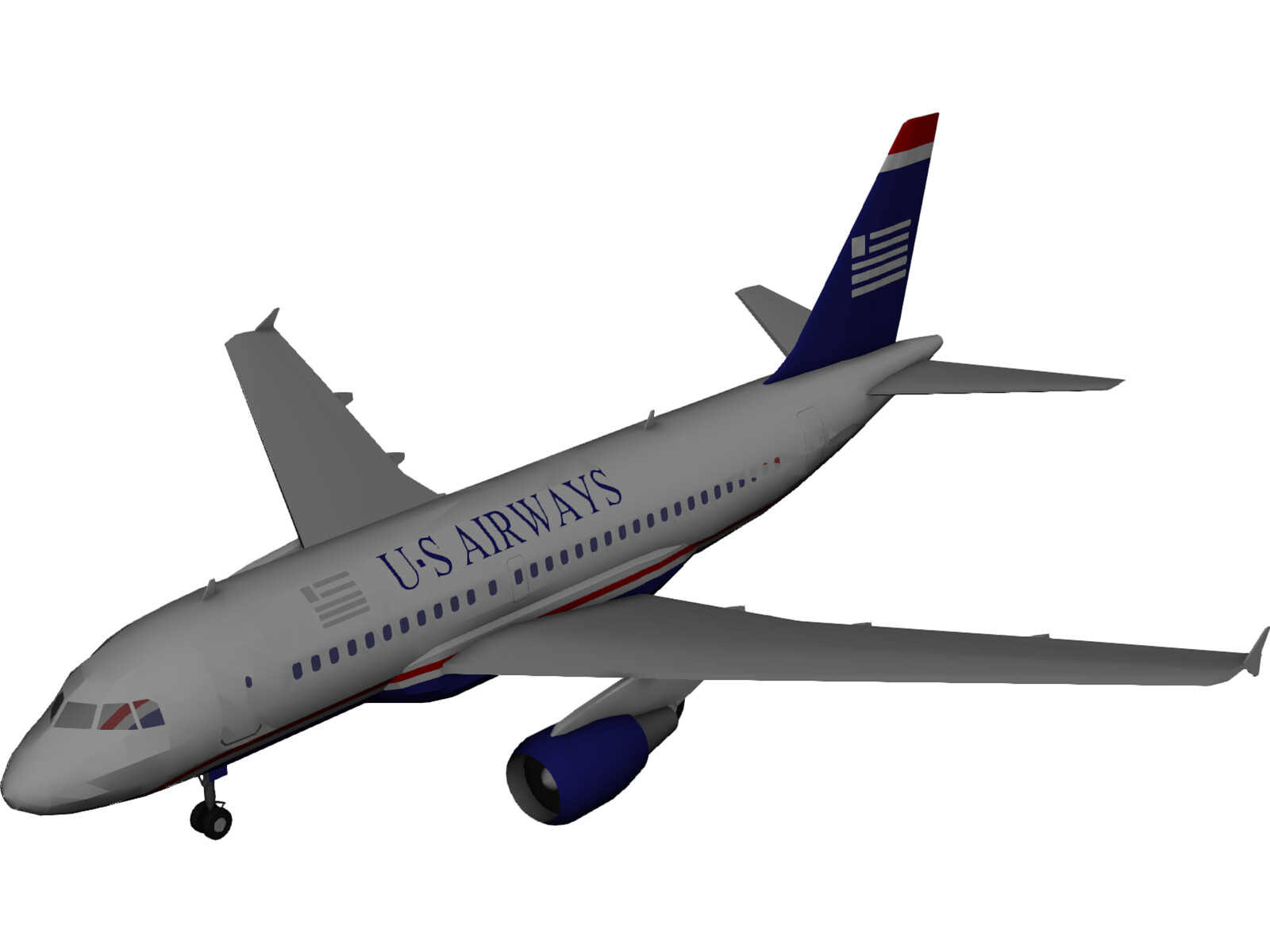 Airbus A319 U.S. Airways 3D Model