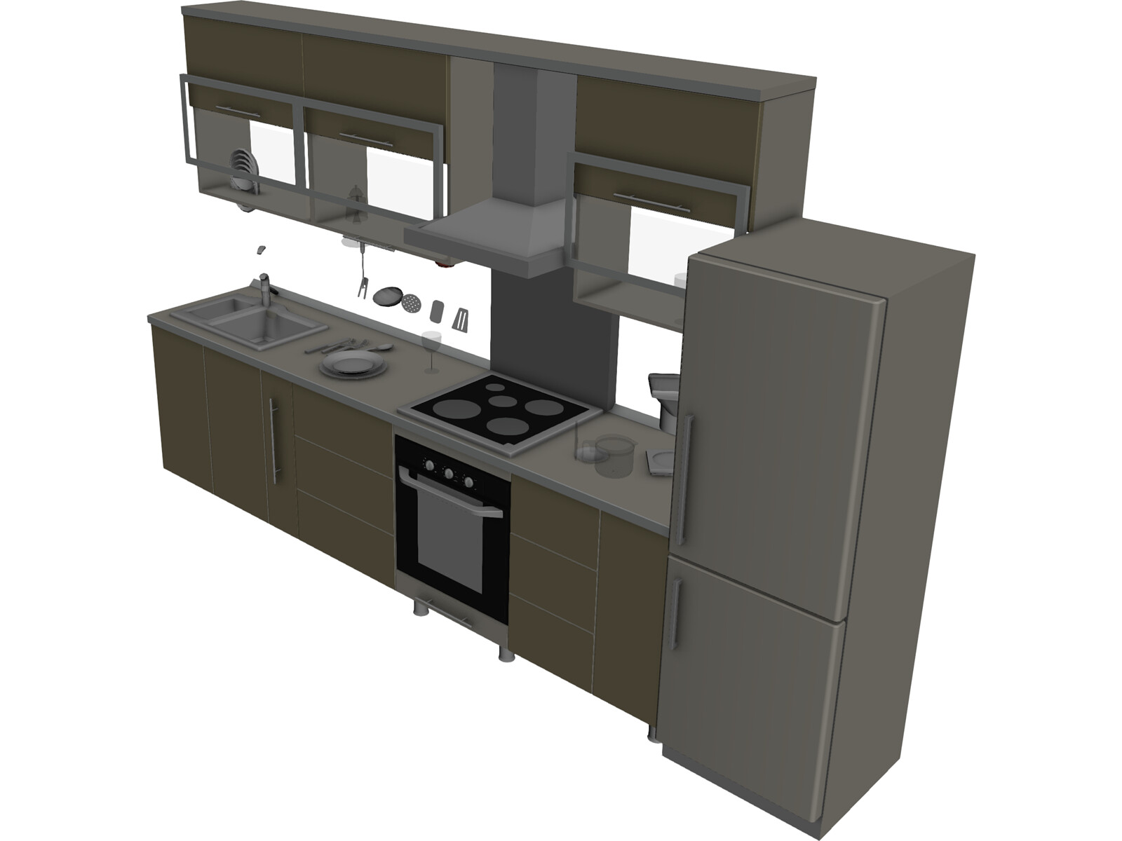 Kitchen 3d Model 3d Cad Browser