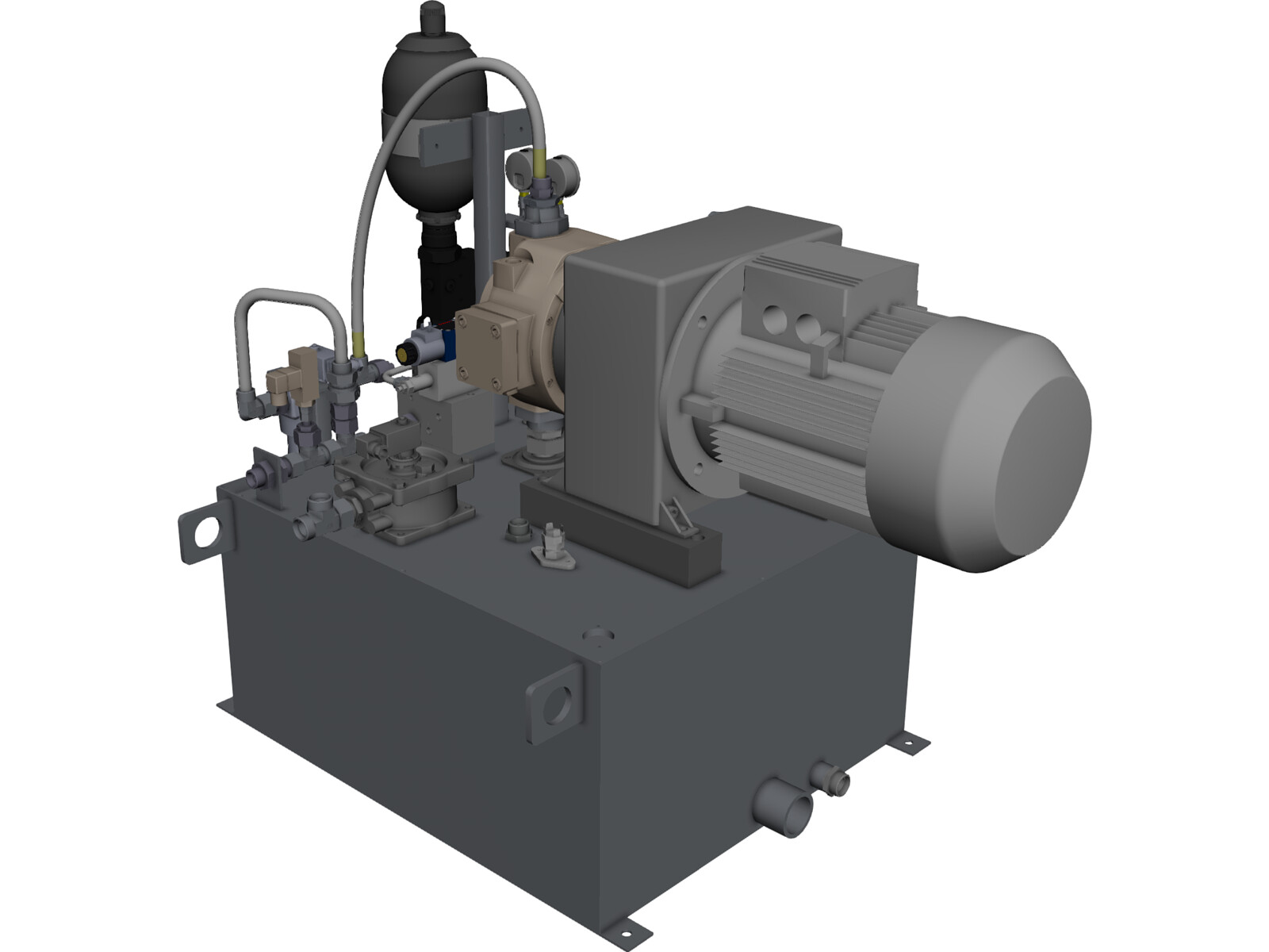 Hydraulic system 3d cad model 3d cad browser Cad models