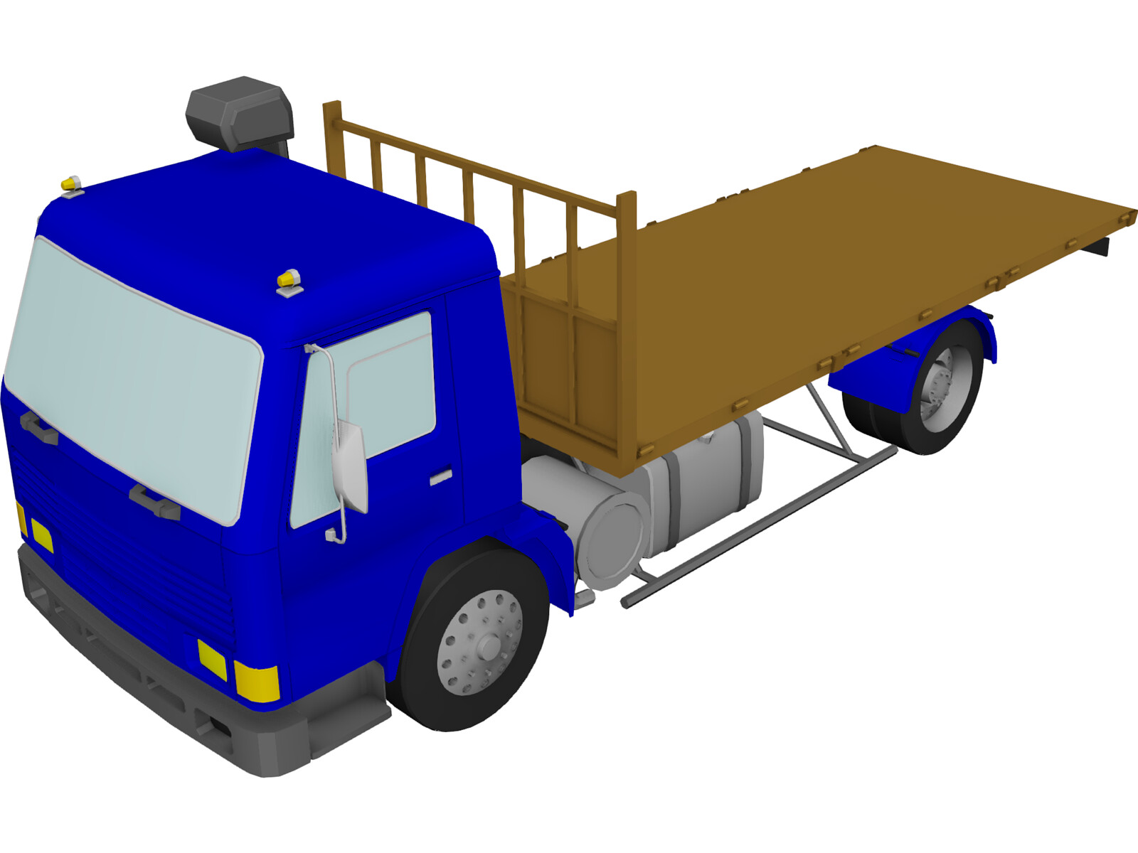 Volvo FL7 Flatbed 3D Model