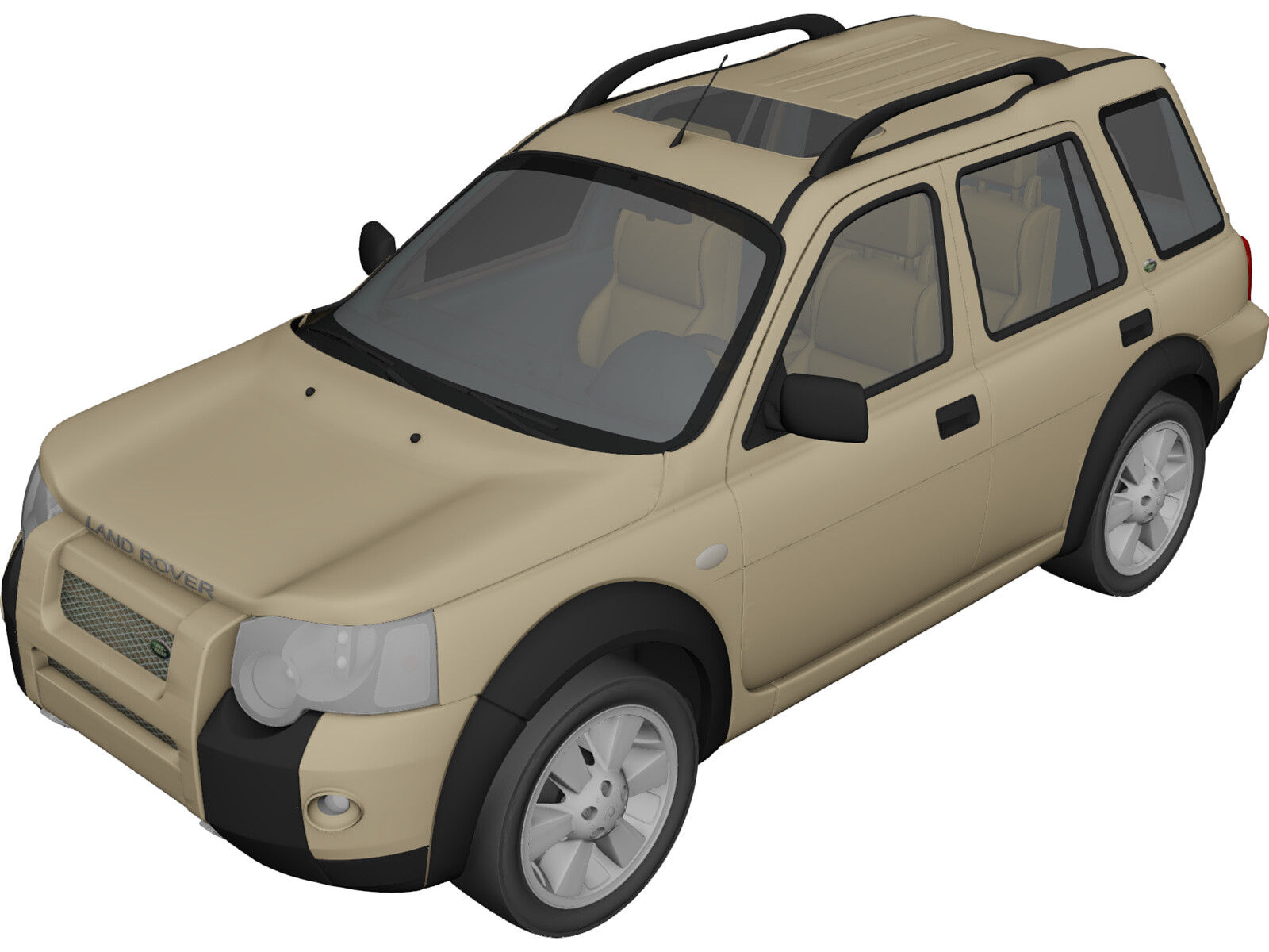 Land Rover Freelander Td4 (2004) 3D Model Download | 3D CAD Browser