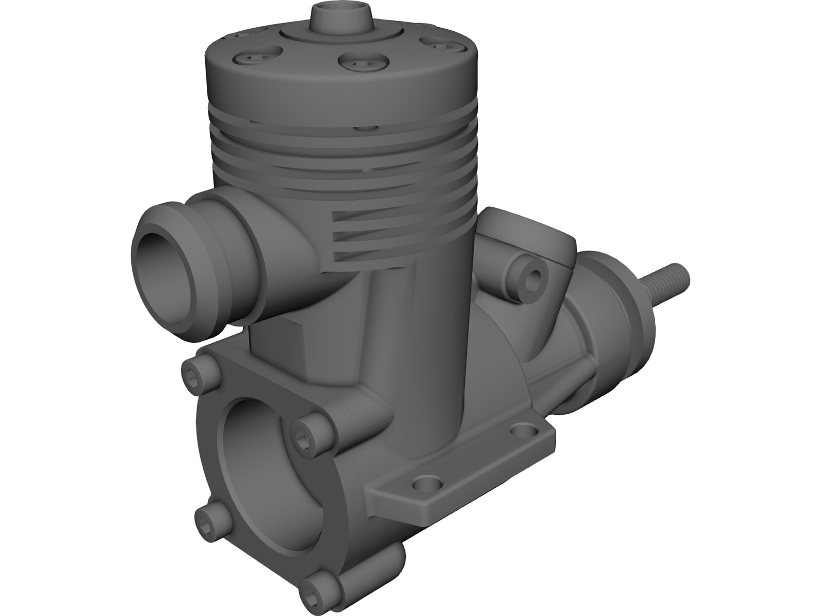 Rc Engine Model 2cc 3d Cad Model Download 3d Cad Browser