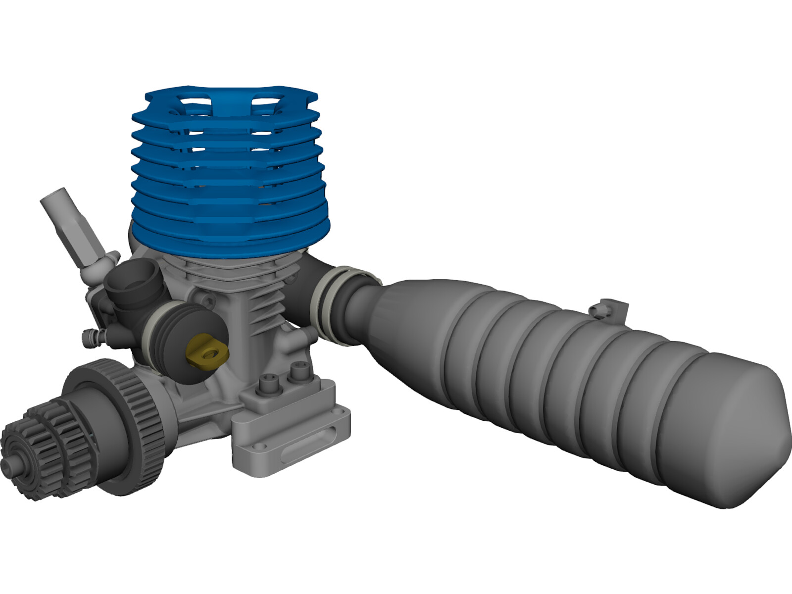 Rc Model Engine 3d Cad Model Download 3d Cad Browser