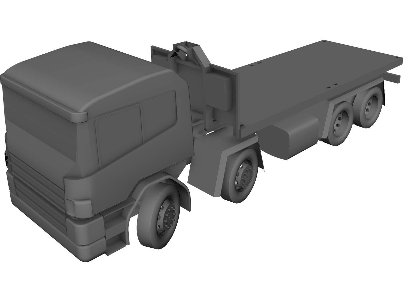 Scania 124 Military Protected 3D CAD Model
