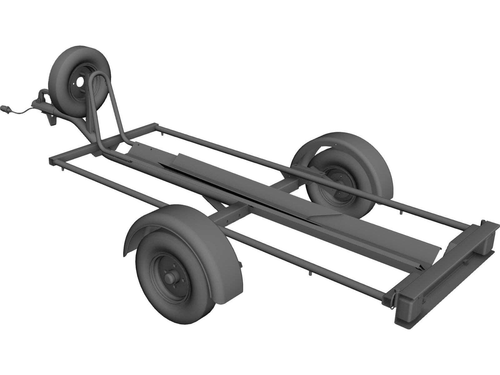 Motorcycle Trailer 3D CAD Model