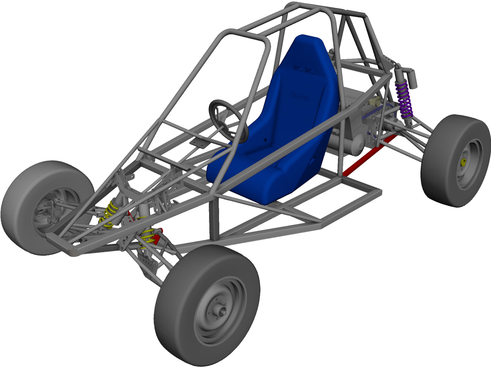 Buggy Off-road 3D Model - 3D CAD Browser