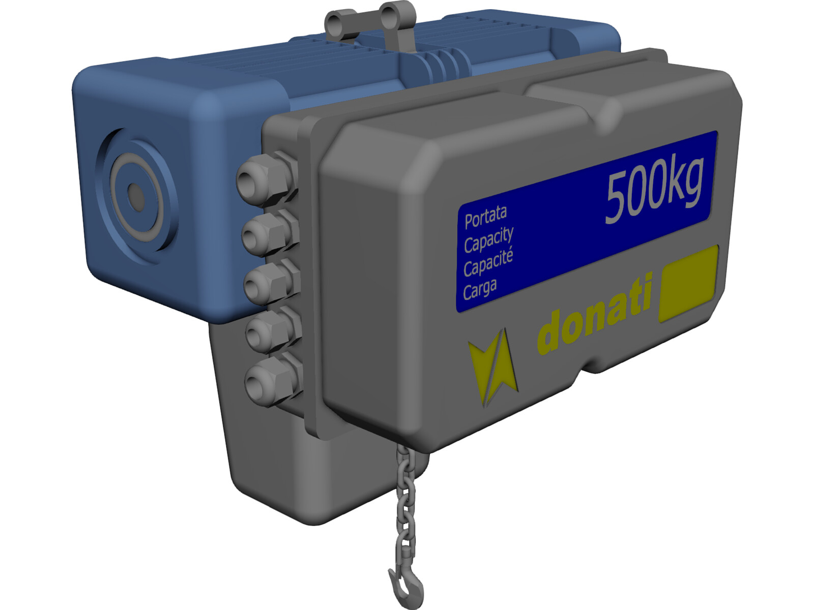 Donati hoist 500kgs 3d cad model 3d cad browser Cad models