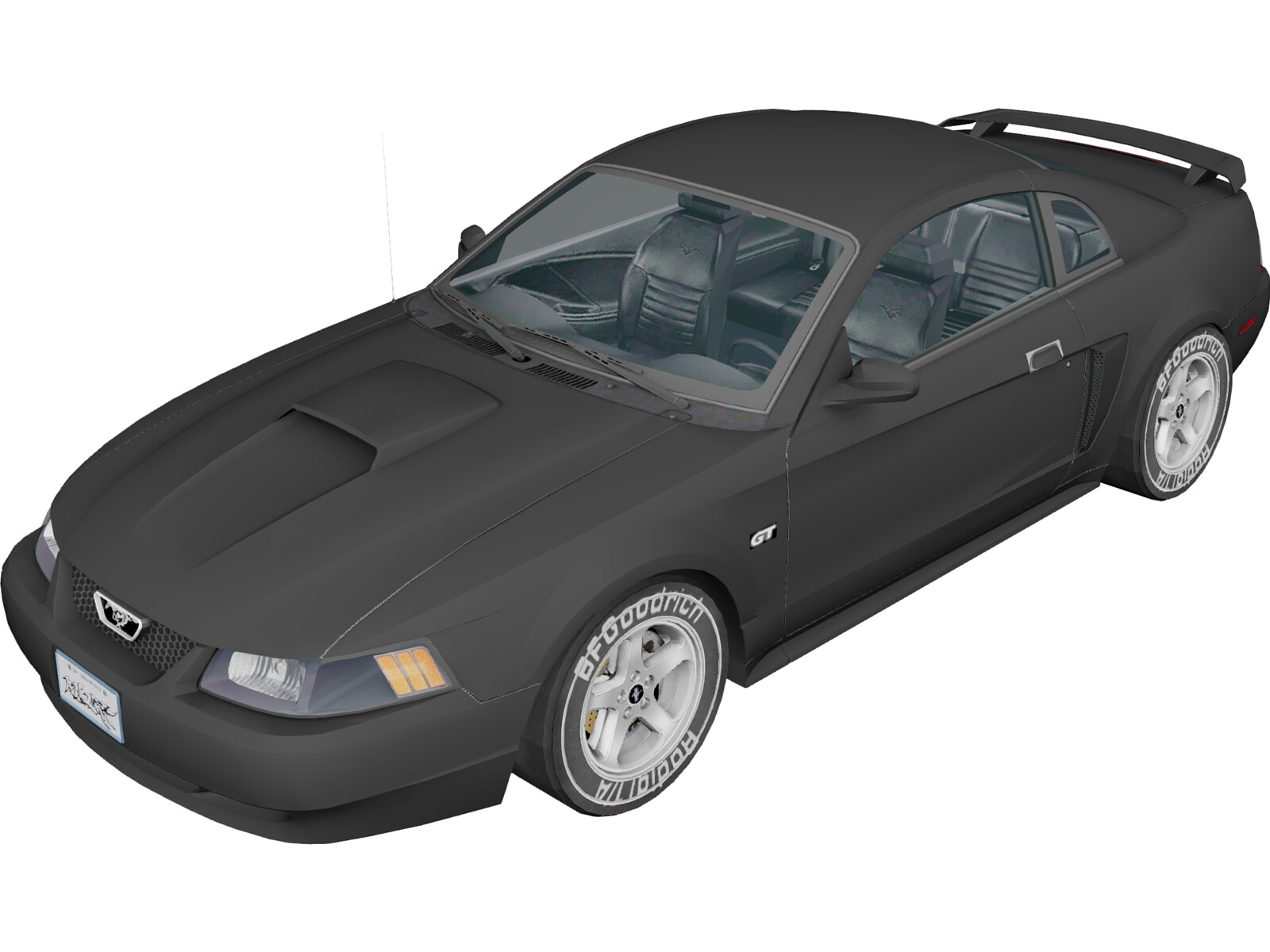 Ford Mustang GT (2000) 3D Model