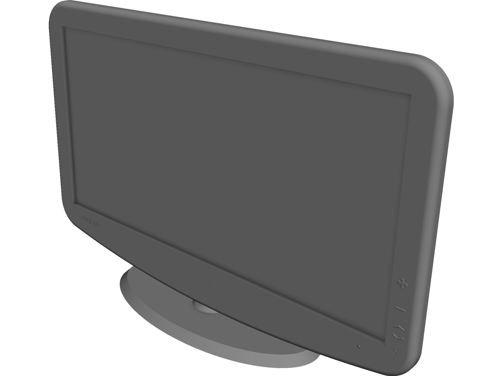 "Samsung TV 40"" 3D CAD Model"