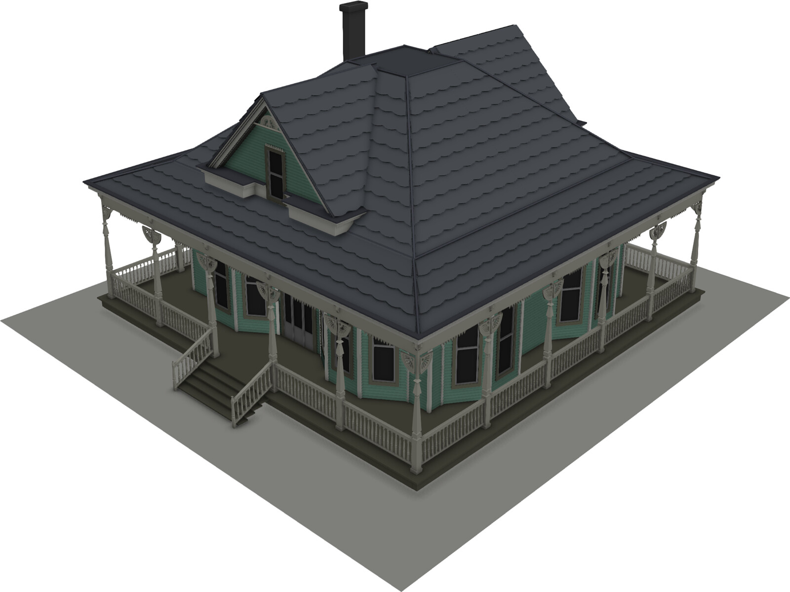 Antique house 3d model 3d cad browser Cad house