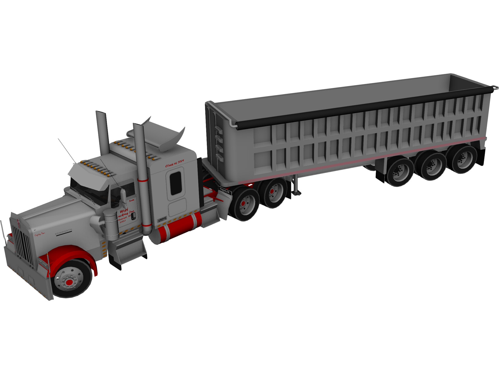 Kenworth W900 with Trailer