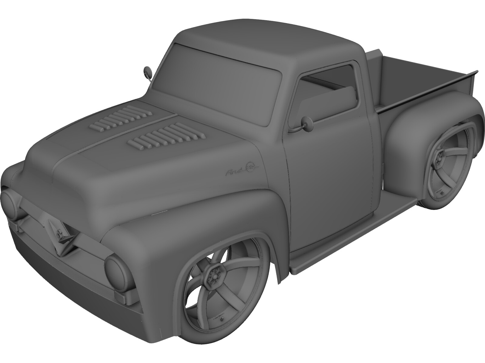 Ford F100 3d Cad Model Download 3d Cad Browser