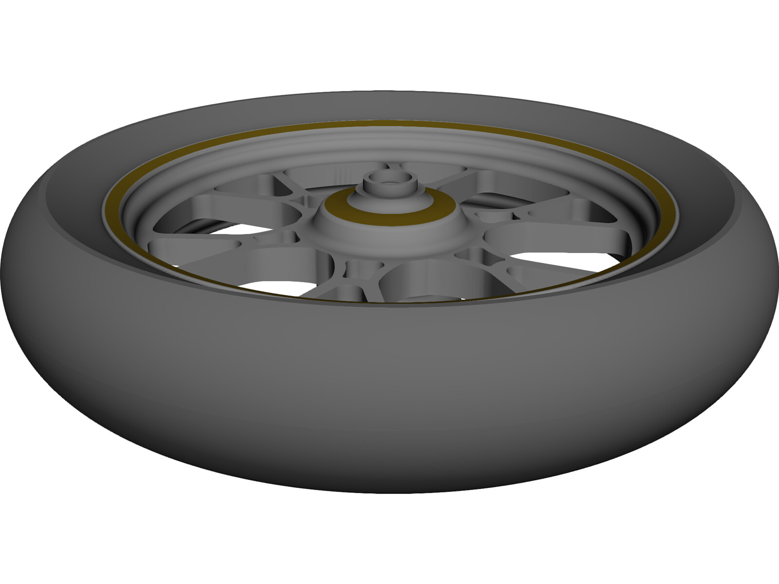 "Wheel Motorcycle Front 16"" 3D CAD Model"