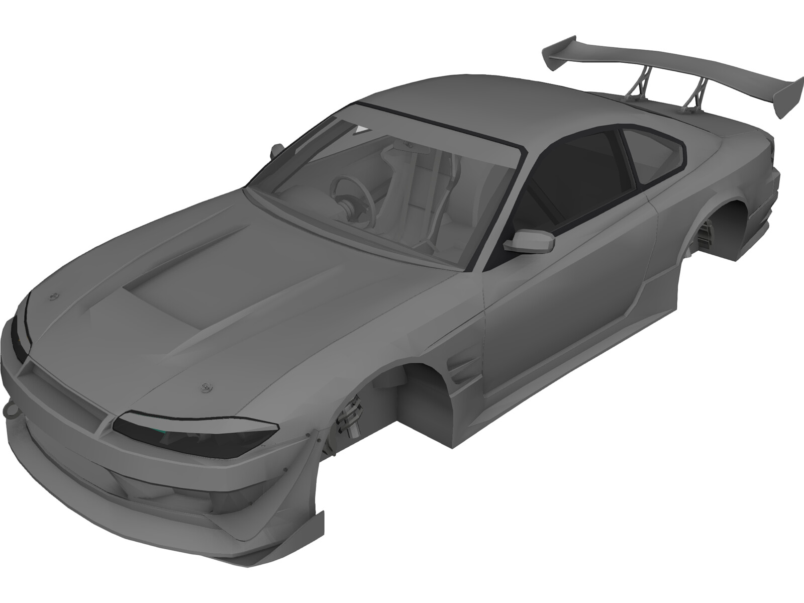 Nissan S15 Silvia Body 3d Model 3d Cad Browser