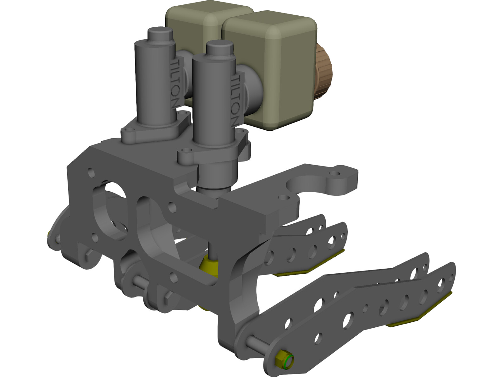 Tilton Floor-Mount Pedal Assembly 3D CAD Model