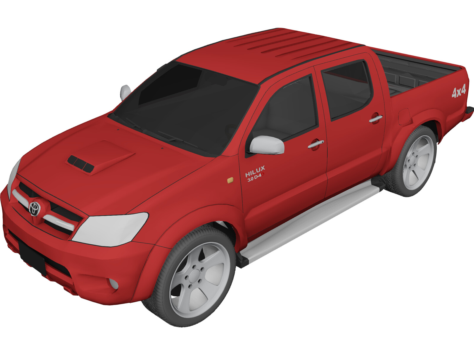 Toyota Tundra 2010 >> Toyota Hilux Crew Cab 3D Model - 3D CAD Browser