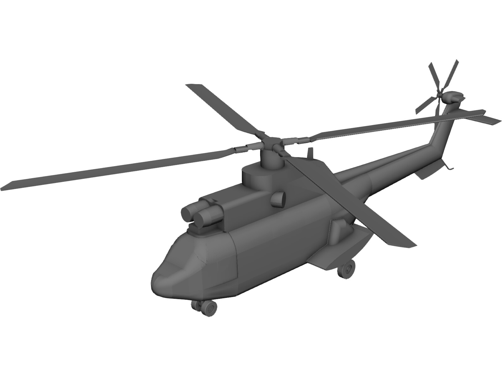 Eurocopter AS-332 Super Puma 3D CAD Model