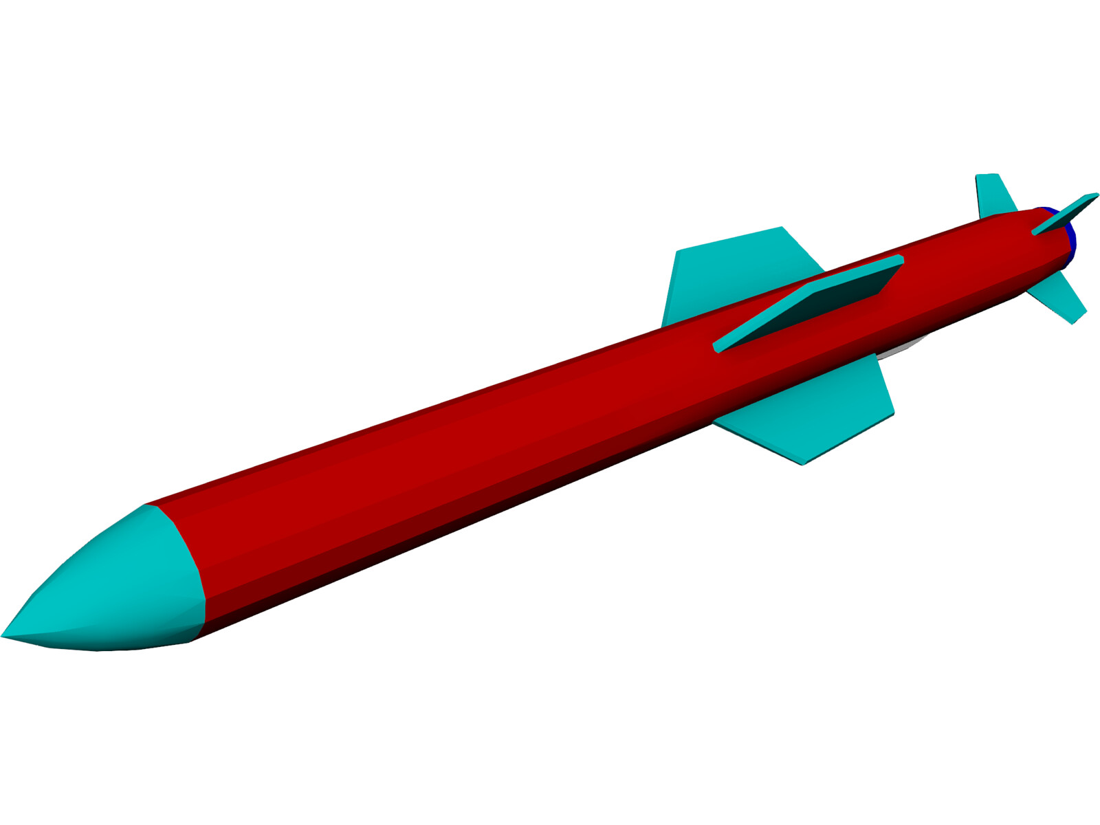 Harpoon Missile 3D Model