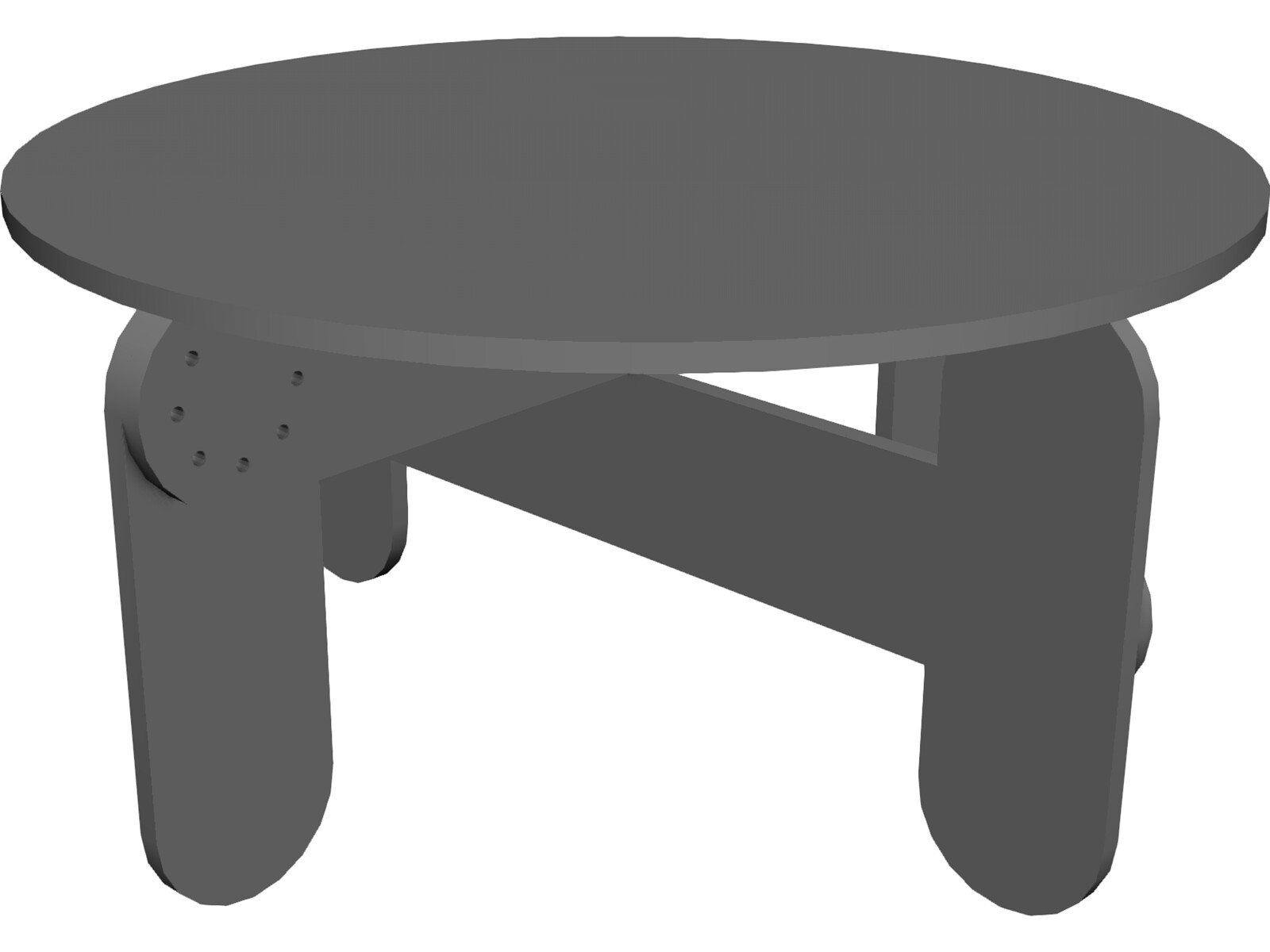 Low Garden Table 3D Model