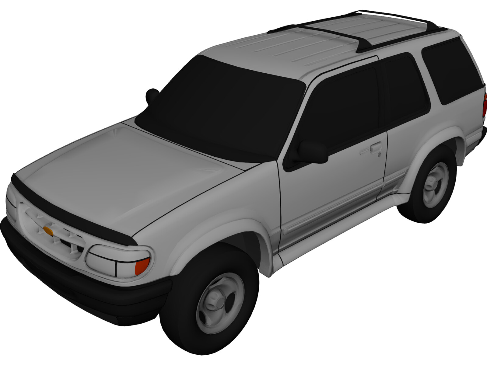 ford explorer sport 1996 3d model 3d cad browser