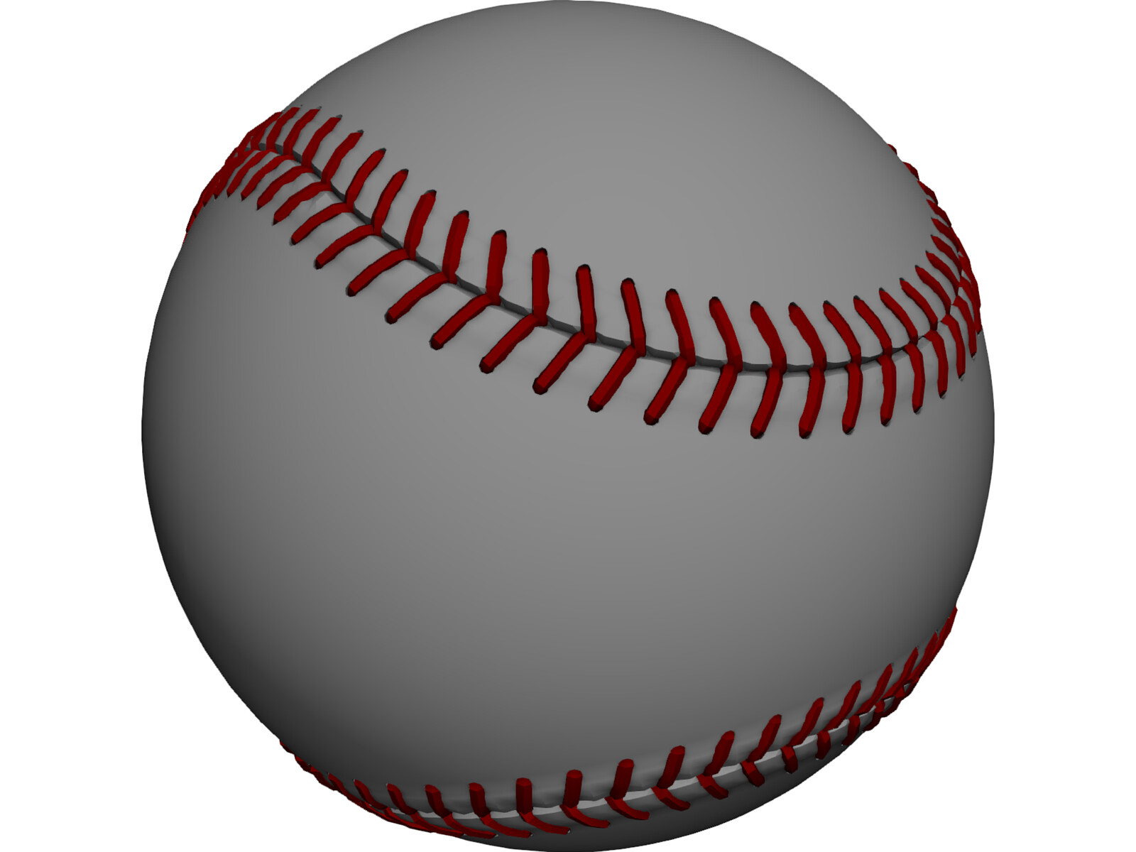 how to draw a 3d baseball