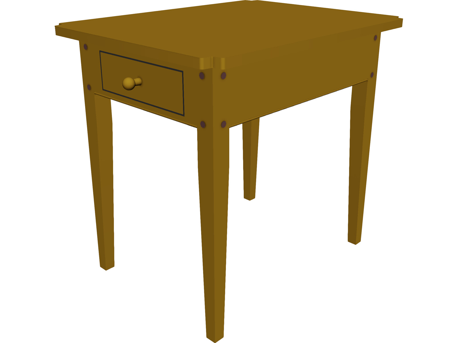 Table Colonial End